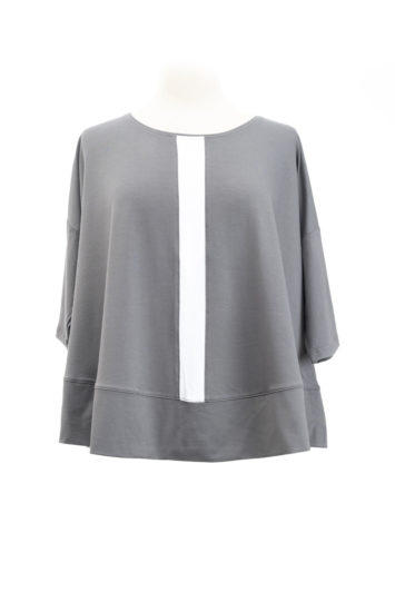 Hindahl & Skudelny Shirt grau/weiß