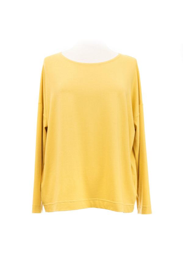 eigenart weites Shirt gelb