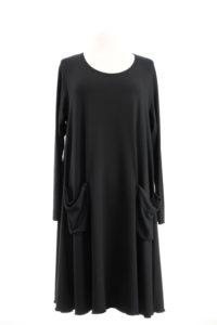 Kleid mit Tasche nero