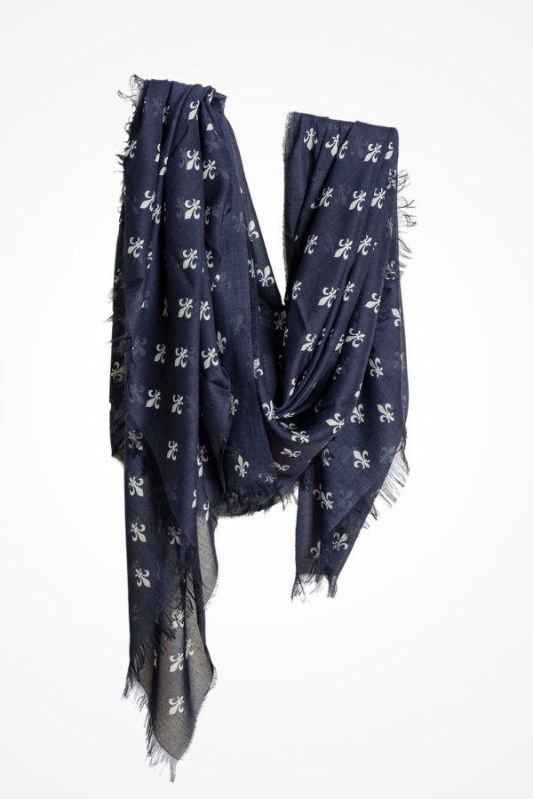 Lilien-Tuch-blau
